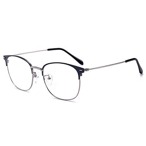 Cyxus Blue Light Filter-Computerbrille zum Blockieren von UV-Kopfschmerzen [Anti Eye Fatigue] Retro-Brillen, Unisex (Damen/Herren) (Schwarz \u0026 Blau).-1