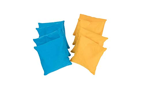 Original Cornhole Bean Bag Set (8er) - 8 Cornhole Säckchen Blau & Gelb