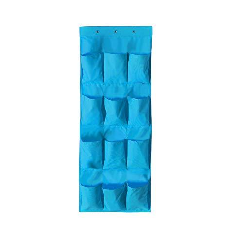 Dyda6 portascarpe da appendere alla porta, con 24 tasche, durevole e sottile, per armadio, dispensa, scarpiera, blue, 1 confezione
