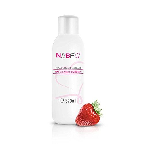 N&BF Nagel Cleaner mit Duft 570ml - für Gelnägel - Nagelreiniger - Nail-Cleaner - 70% Isopropanol-Alkohol kosmetisch rein in Studioqualität zum Entfetten und Reinigen (Erdbeer) -