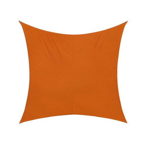 Jarolift Voile d'ombrage | Toile d'ombrage | Carré | Tissu imperméable à l'eau | 300 x 300 cm, orange