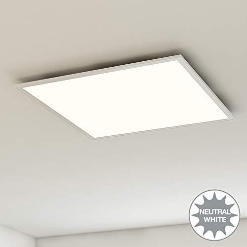 Briloner Leuchten - LED Deckenleuchte-Panel, LED-Lampe, Wohnzimmer-Lampe, Deckenlampe, Deckenstrahler, 38W, quadratisch, weiß, 59.5 cm