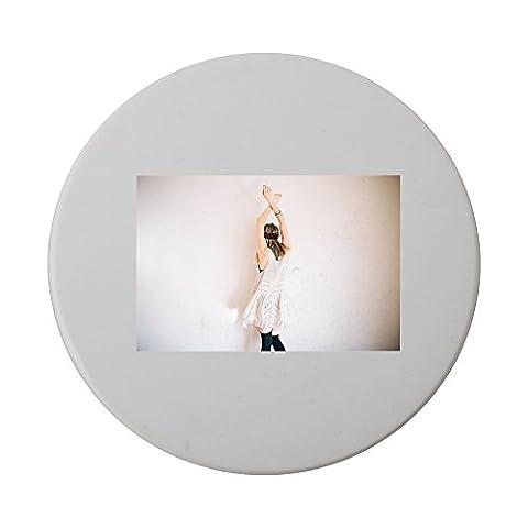 Model, Arms Raised, Female, Girl ceramic round coaster