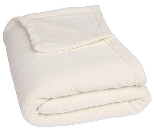 Betz basic coperta di pile poland misure: 140x190 cm colore: bianco