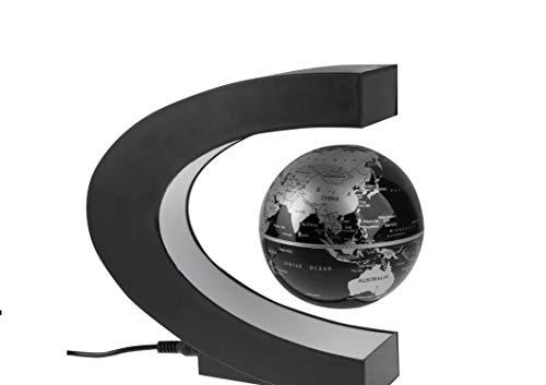 Markenlos Schwebender Globus mit mehrfarbiger LED,tolle Deko,Schreibtisch,Büro,Gadget