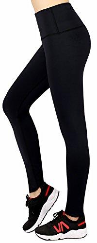 Sugar pocket Femmes Maille Pantalons de Sport Leggings de Sport, Yoga, Pilates, Plank, Jogging et Fitness Noir