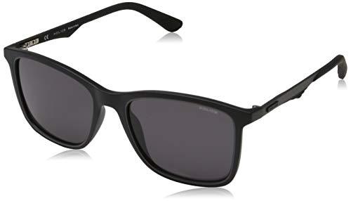 Police Herren CARBONFLY 5 Sonnenbrille, Schwarz (Semi Matt Black/Grey), 54.0