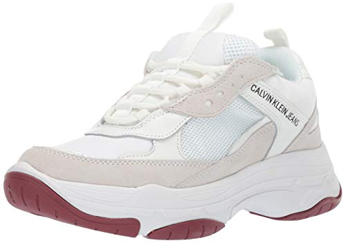 Calvin Klein Jeans Femmes Blanc Maya Chunky Basket-UK 5