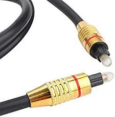 Cable World (1.5 Meter) Digital Optical Audio Toslink Cable - (1 Year Warranty)