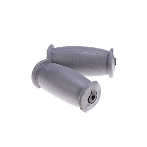 Healifty Gummi-Krücken Ersatz-Crutch-Handgriffe Crutch-Handpads für Unterarm-Krücken für Standard-Aluminium-Crutch-Zubehör-Kit 1 Paar (Grau)