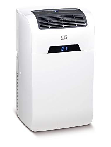Remko 1601240 Raumklimagerät SKM 240 (kompakte Form, 3 Ventilatorstufen, LED-Anzeige, Kühlleistung 2,4 kW, mit Fernbedienung), weiß