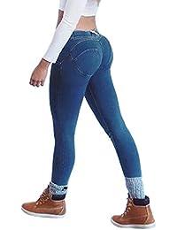 965bbf82f3e72 Donna Pantaloni Lunghi - Moda Push Up Jeans Dimagranti Fashion Stretch Skinny  Boyfriend Pantaloni in Denim Primavera Casuale Leggings…