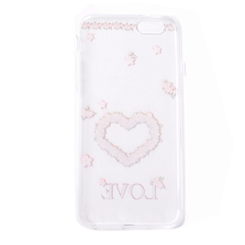 Pour Apple iPhone 6s Plus(5.5 Zoll ) Case Cover, Ecoway TPU Clear Soft Silicone Back Dream Rose Housse en silicone Housse de protection Housse pour téléphone portable pour Apple iPhone 6s Plus(5.5 Zol Amour