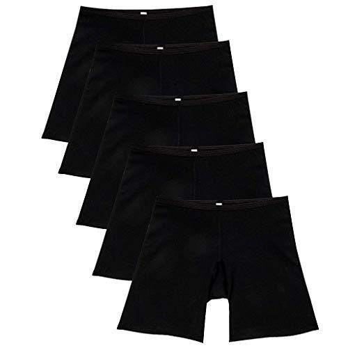 Bibao 5er Pack Bauchkontrolle, Oberschenkel, schlanker Body Shaper für Frauen Hohe Taille, Slimming Butt Lifter Boyshorts Unterwäsche (Seide Boyshort Aus)