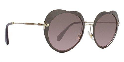 Miu Miu Damen Sonnenbrille 0MU54RS U6H5P1, Beige (Matte Beige/Violet), 52 (Beige Sonnenbrille Miu Miu)
