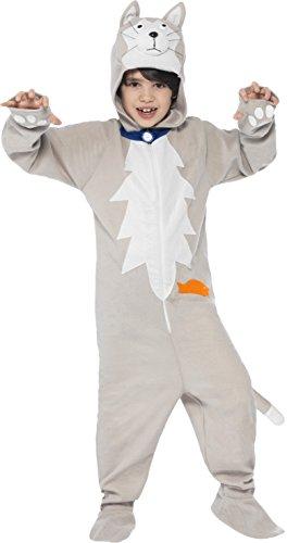 Smiffy's 25894M - Battersea Verschmieren Die Katzen-Kostüm mit Overall und Hood, (Face Kostüm Ideen Cat)