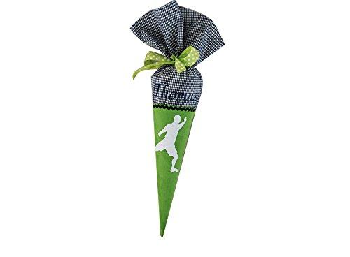 Geschwisterschultüte klein mini I Schultüte Geschwister mit Namen personalisiert I Fussball Street Soccer I Grün Blau I von Glückspilz