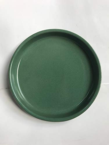 K & K sous coque/soucoupe ronde pour pot de fleurs venus II avec et sans anse 19 x 15 cm - Ø 16 cm Vert flammé en grès (Céramique Haute Qualité)
