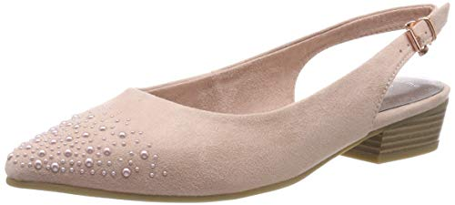 MARCO TOZZI Damen 2-2-29400-22 Slingback Pumps, Pink (Rose 521), 38 EU Pink Sling