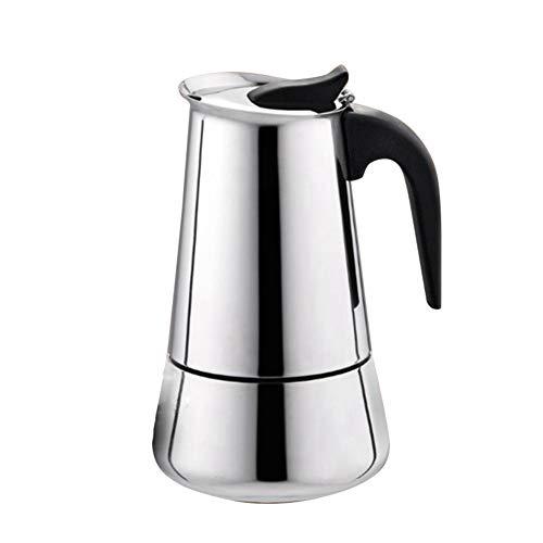 GUOCU Espressokocher Kaffeekocher Stovetop Espresso Maker Moka Pot: Klassischer Cafe Maker aus Edelstahl für Induktions-Herde geeignet,Typ 2,300 ML