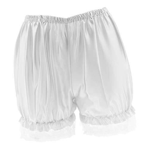 Sharplace Damen Unterwäsche Slip Unterhosen Sicherheits Shorts Kurz Leggings mit Spitzenbesatz - Weiß Spitze, M Bloomers Boyshort