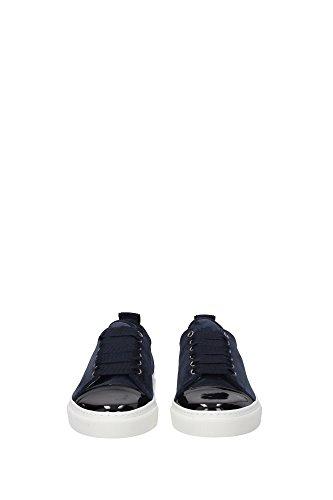 FWSKPK2LSOIAA162424 Lanvin Sneakers Femme Chamois Bleu Bleu