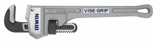 IRWIN VISE-GRIP Tools Cast Aluminum Pipe Wrench, 3-Inch Jaw Capacity, 24-Inch (2074124) by Irwin Tools