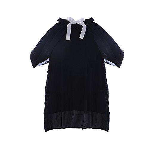 Dihope Damen Schulterfrei Chiffon Bluse Ärmellos T-Shirt Neckholder Tops Oberteil mit Schleife