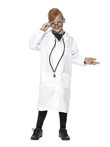 Arzt Naughty Kostüm - Halloweenia - Kinder Jungen Mädchen Arzt Doktor Scientist Kostüm mit Laborkittel Kittel, perfekt für Karneval, Fasching und Fastnacht, 140-152, Weiß