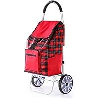 Jizhi Portátil-Carro de Compras Plegable Carro portátil Coche de Aluminio Remolque doméstico Carro de
