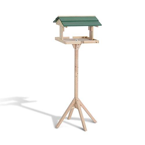 Mangeoire oiseaux sur pied grande taille avec toit vert bois massif de pin 50 x 50 x 121 cm neuf 42