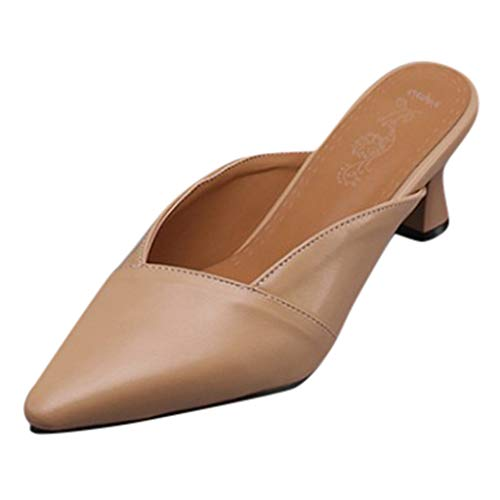 ZYUEER Damen Schuhe Damenschuhe Mit Spitzen Schnitten, Vielseitige Sandalen Mit Hohen Absätzen, Hausschuhe