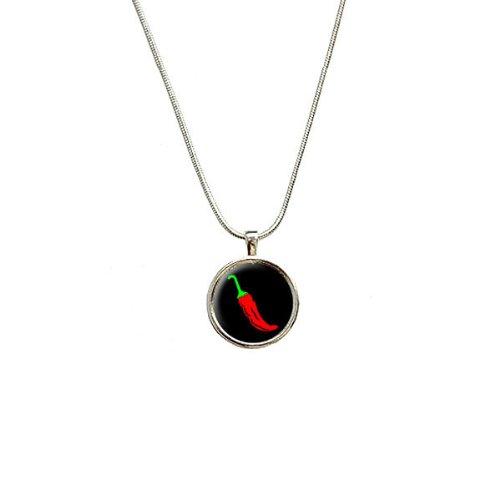 Chili Pepper–Southwestern Anhänger mit Sterling Silber vergoldet Kette (Peppers-designer Chili)