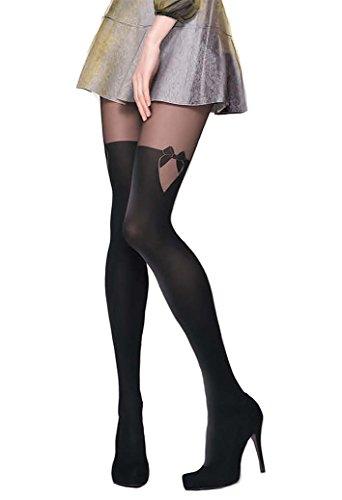 Gatta Girl-Up 29 - 40/60den - Größe 4-L - Nero-schwarz (Denier Semi-blickdichte 40 Strumpfhosen)