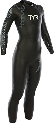 TYR Hurricane C2 Triathlon Neoprenanzug Damen, Damen, Hurricane C2, Nero/Light Blue -