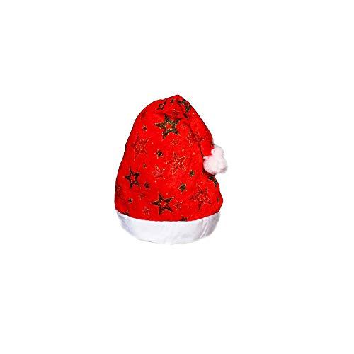 Domire 1 PC Soft Weihnachten Hut Mit Goldpentagram Und Nette Raw Edges Festival Home Office Party-Dekoration Festival Supplies (Rot Und Gold) (Hollywood Stern Kostüm)