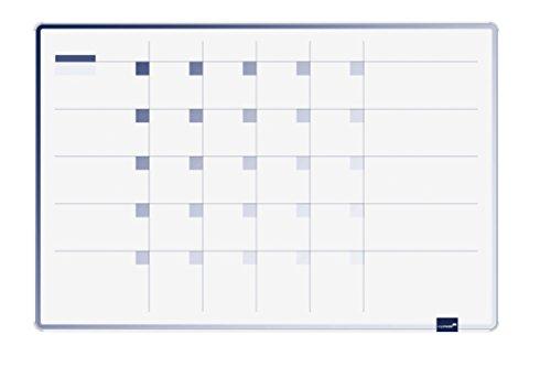 Legamaster 7-489500 Planungstafel Accents Linear Cool - Monat Planer für die Monatsplanung, 90 x 60 cm