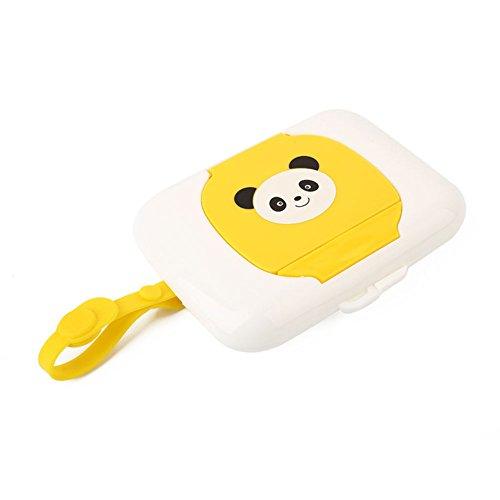 Aufbewahrungsbox für feuchte Tücher, Panda-Muster, tragbar, für Reisen, Kinderwagen, Feuchttücher, Box für Kinderwagen, Windeltasche