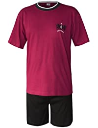 Schlafanzug Herren kurz Herren Pyjama kurz Herren Shorty Schlafanzug aus 100% Baumwolle