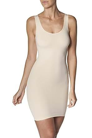 Sleex Figurformendes Miederkleid (mit breiten Traegern), Hautfarben, Groesse S/M