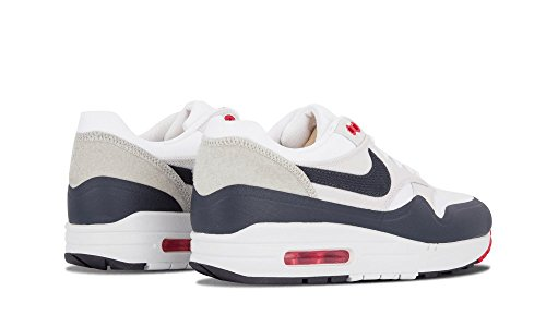 Nike Mens Air Max 1 White Blue OG Patch SP White Obsidian Red Trainer Multicolore