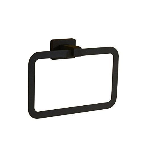 rentianleMJJ Handtuchhalter All Black Square high-end handtuchring -