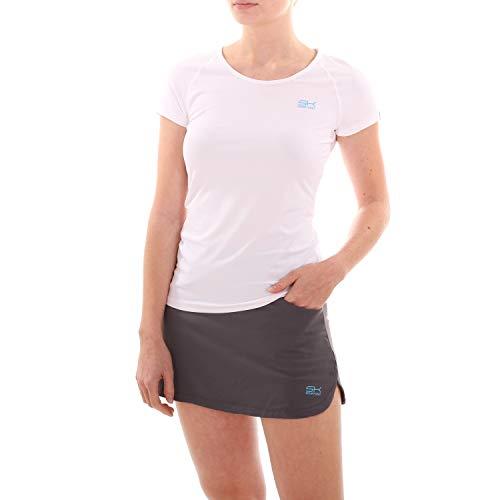 Sportkind Mädchen & Damen Tennis/Fitness/Sport T-Shirt, weiss, Gr. 152