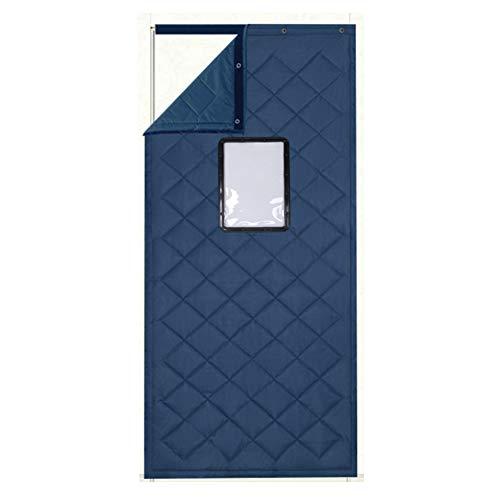 BE&Qy Kalten Beweis Warme Baumwoll-Vorhang, Schalldicht Transparentes Fenster(30 * 40cm) Tür Vorhang, Winter Wiederverwendbar Wind-Schild Vorhang-B 80x240cm(31x94inch)