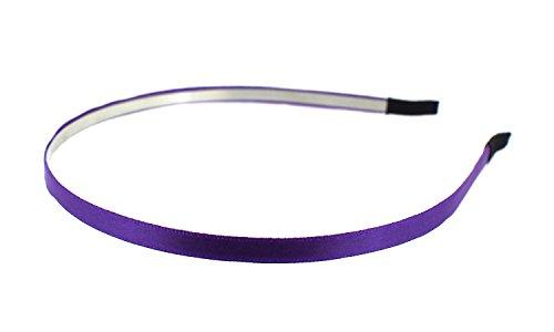 Trimweaver 12-teilig 5mm Satin gefüttert Metall, Kopfband, 3/16Zoll, violett Metall-gefüttert