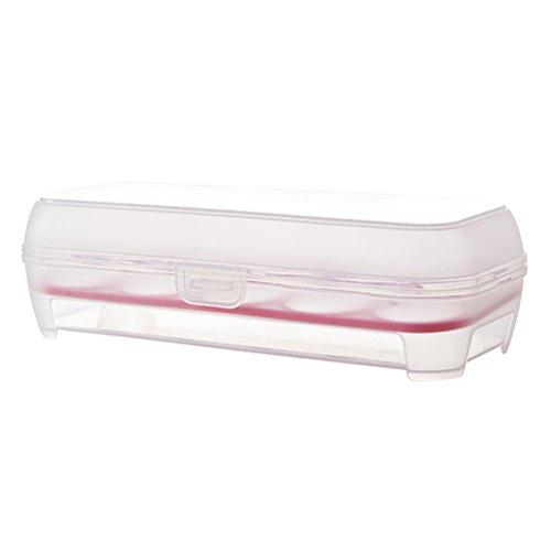 OUNONA Transparente Soporte para huevos Contenedor a prueba de golpes Caja de almacenamiento Bandeja para 10 huevos (Rosy)