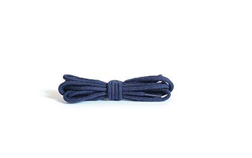 Kaps Lacets minces rondes, lacets 100% coton de qualité pour chaussures décontractées et mode, fabriqués en Europe, 1 paire, plusieurs couleurs et longueurs