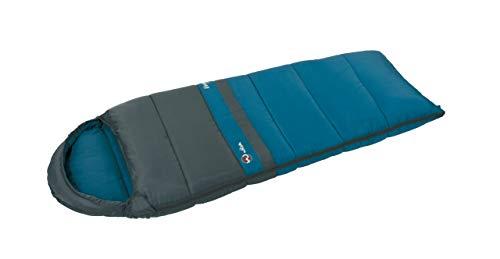 Wilsa Outdoor Schlafsack Wandern 14° Sarkophag 180x 70cm grau/blau, Verdon Light Junior 101251 -