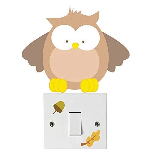 (HHZDH Tiere Niedlichen Bären Batman Lichtschalter Aufkleber Remoable Wandaufkleber Für Kinder Baby Kindergarten Abziehbild Murla Decor 3 Stücke)