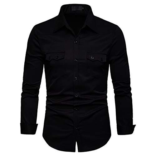 DNOQN Herren Pullover Slim Fit Baumwoll Shirts Herren Langarmshirt Gittermalerei Große Größe Lässiges Top Bluse Shirts S